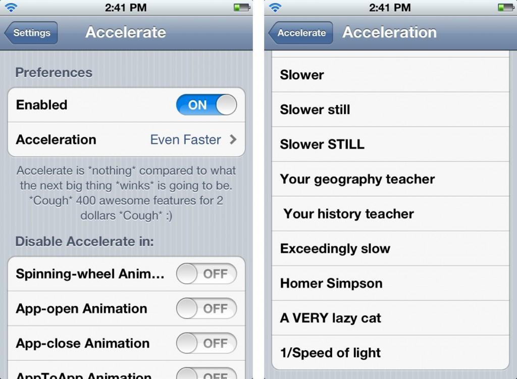 Accelerate Cydia App iOS 7