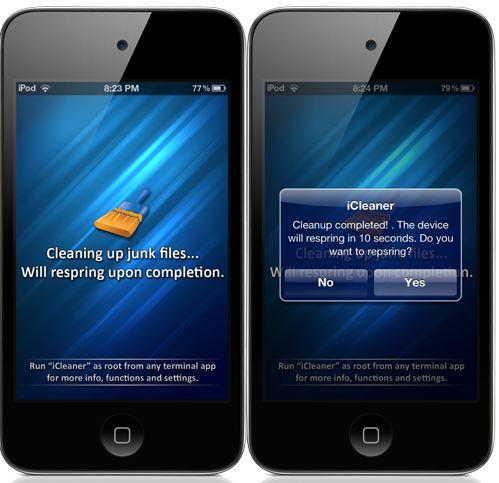 icleaner iOS 7 cydia app