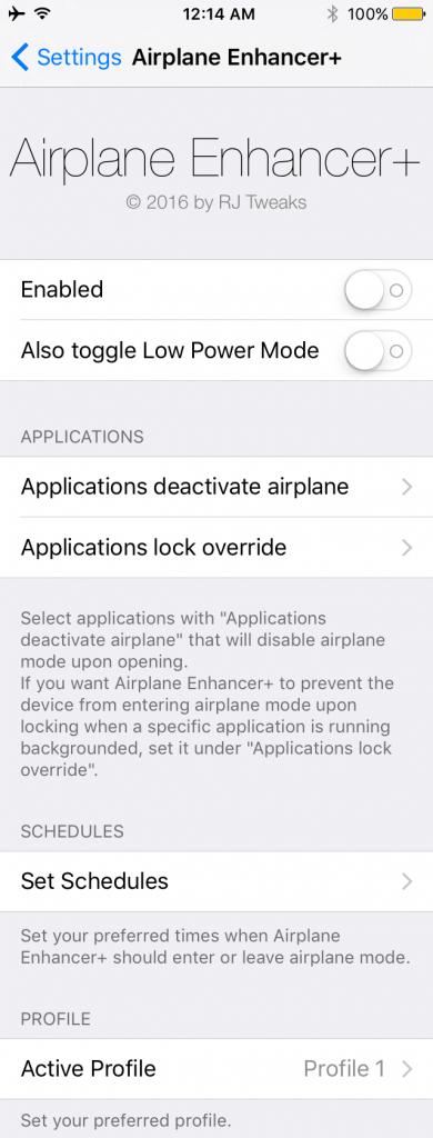 airplane enhancer plus cydia app